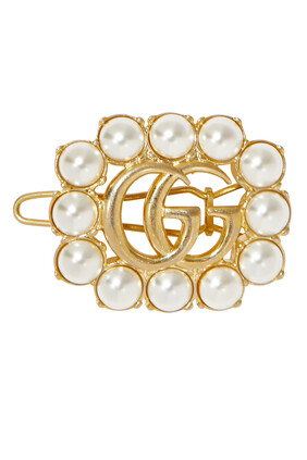 Pearl Double G Hair Slide Pin