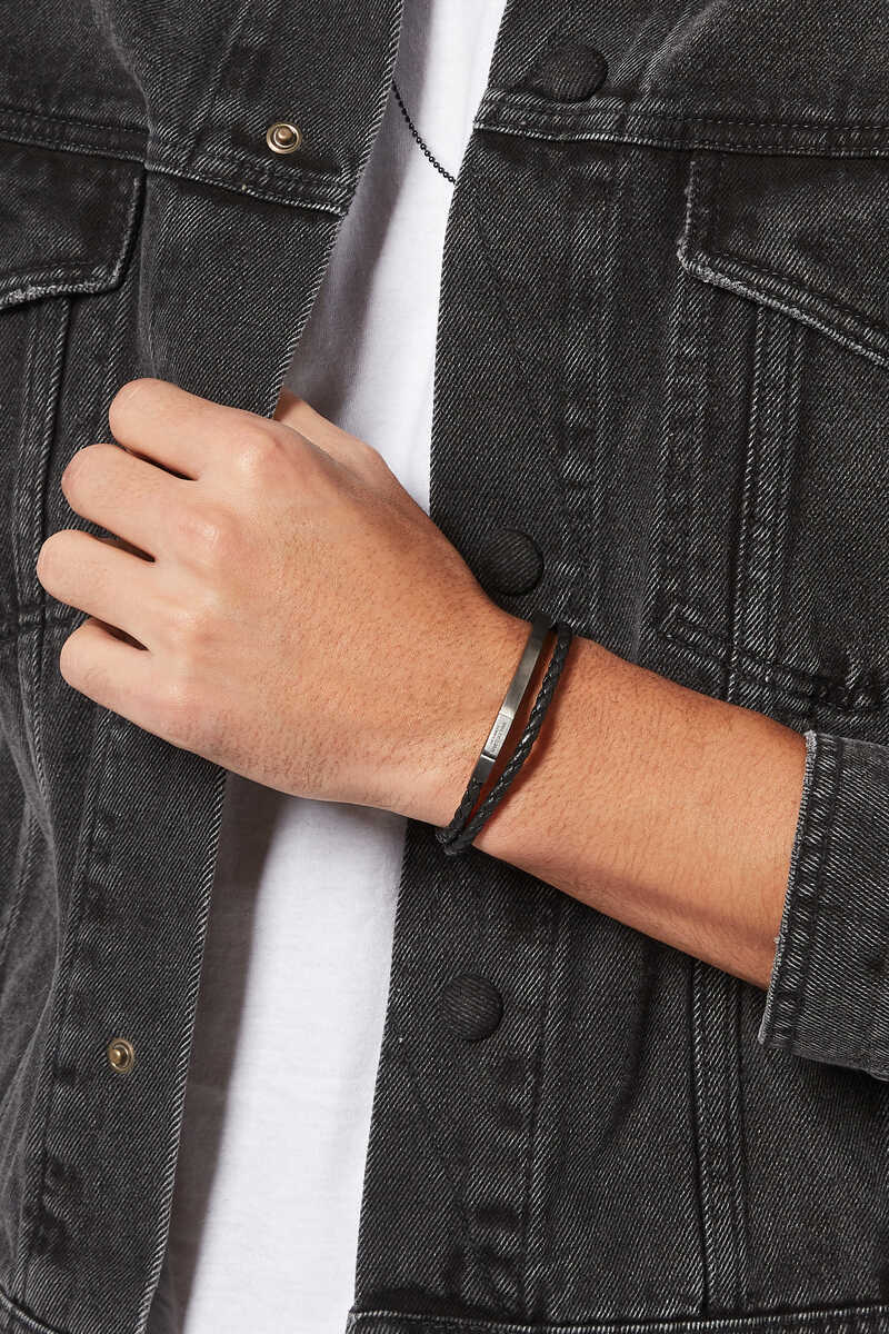 Mezzo Noir Silver Bracelet image number 2