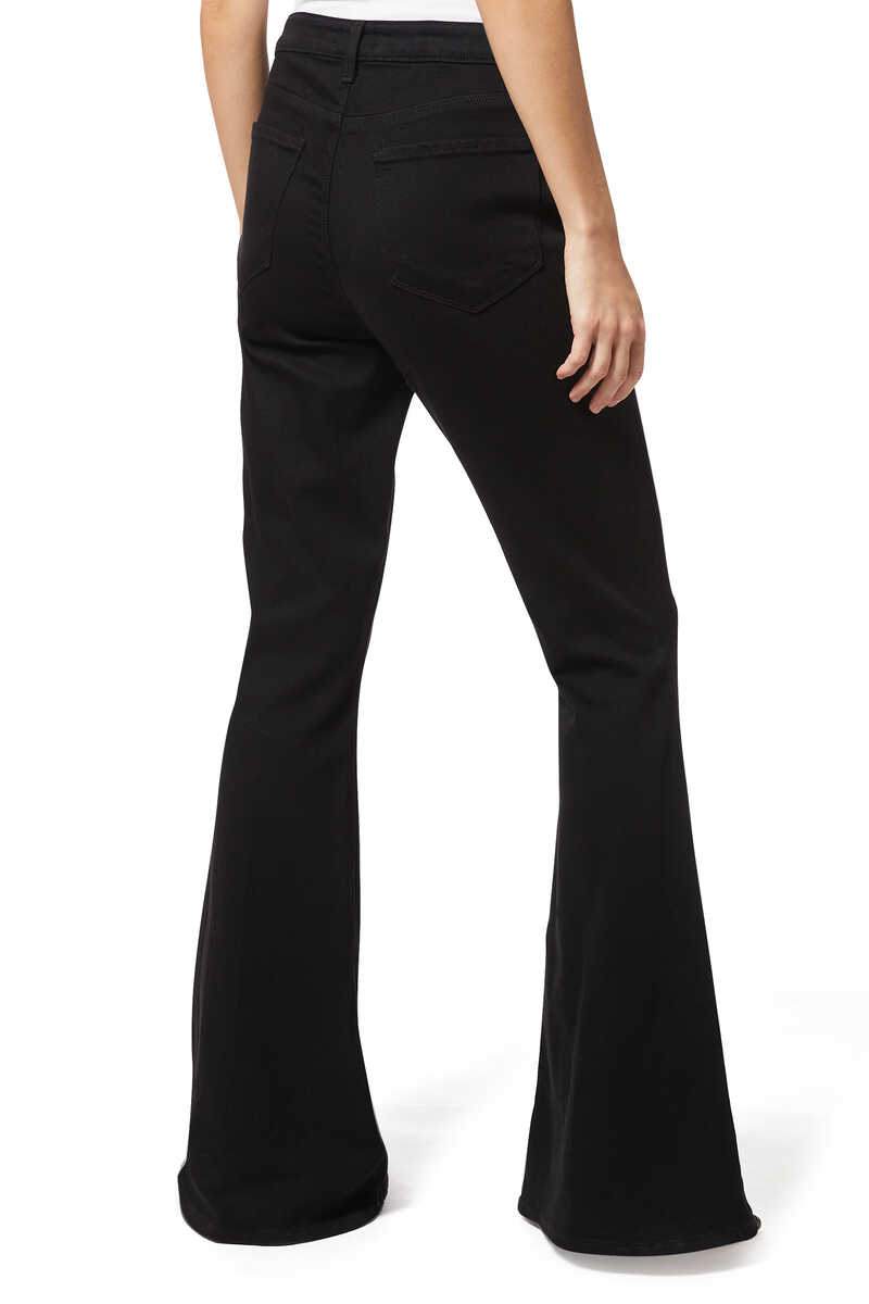 Black Solana Big Flare Pants image number 3
