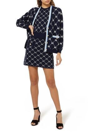 Jino Jacquard Knit Skirt