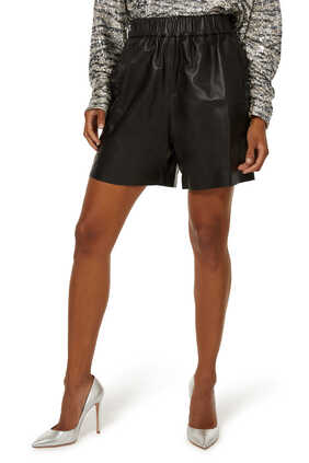 Tove Leather Shorts