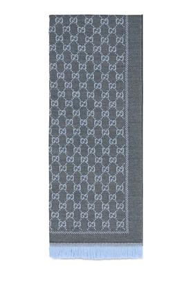 Wool GG Jacquard Scarf