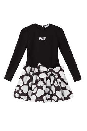 Heart Printed Bow Dress