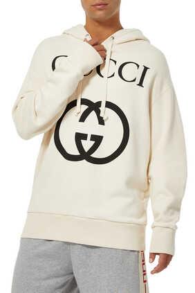 Hooded sweatshirt with Interlocking G