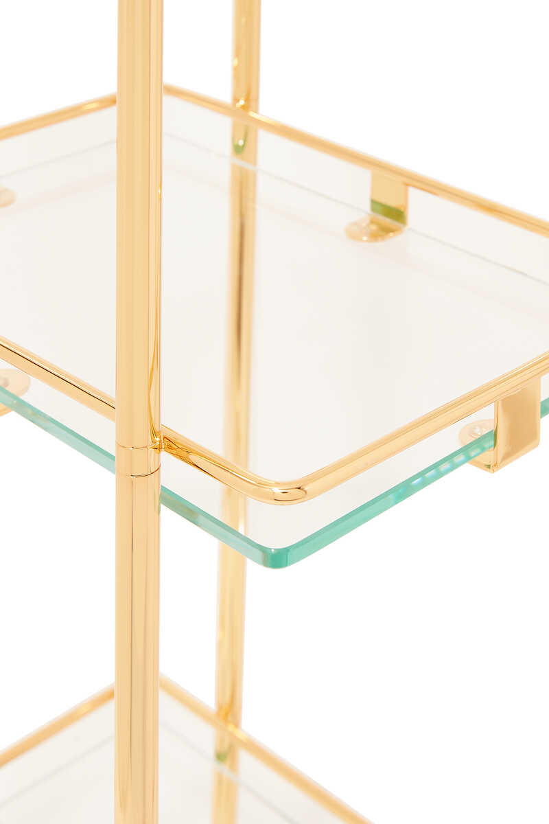 Square Gold-Plated Trolley image number 2