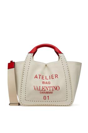 Valentino Garavani Atelier Canvas Tote Bag