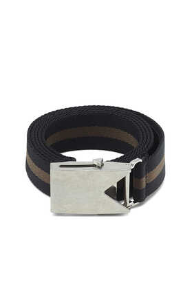 Plaque Ribbon Stripe Belt