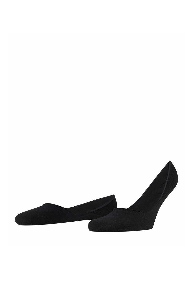 Black Step No-Show Socks image number 1