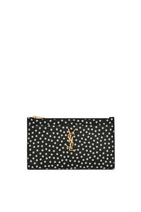 Monogram Bill Pouch In Dotted Leather