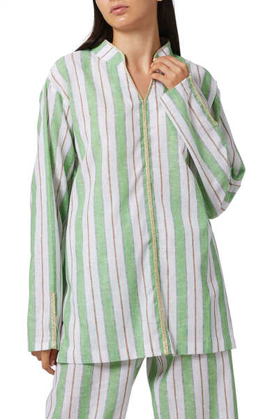 Striped Oriental Shirt