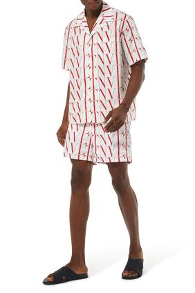 VLTN TIMES Print Cotton Shorts