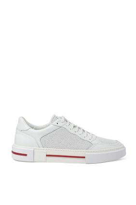 Side Stripe Leather Sneakers