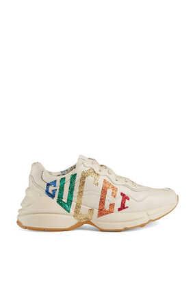 Rhyton Glitter Gucci Sneakers