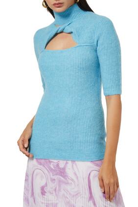 Soft Wool Knit Top
