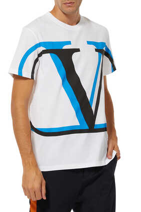 VLogo Shadow Print T-Shirt