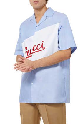 Oversized Logo Bowling Shirt