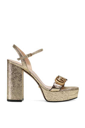 Platform Sandals With Double G