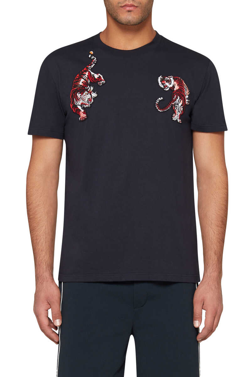 Tiger Embroidered T-Shirt image number 5
