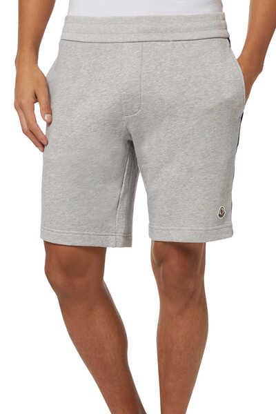 Striped Logo Cotton Bermuda Shorts