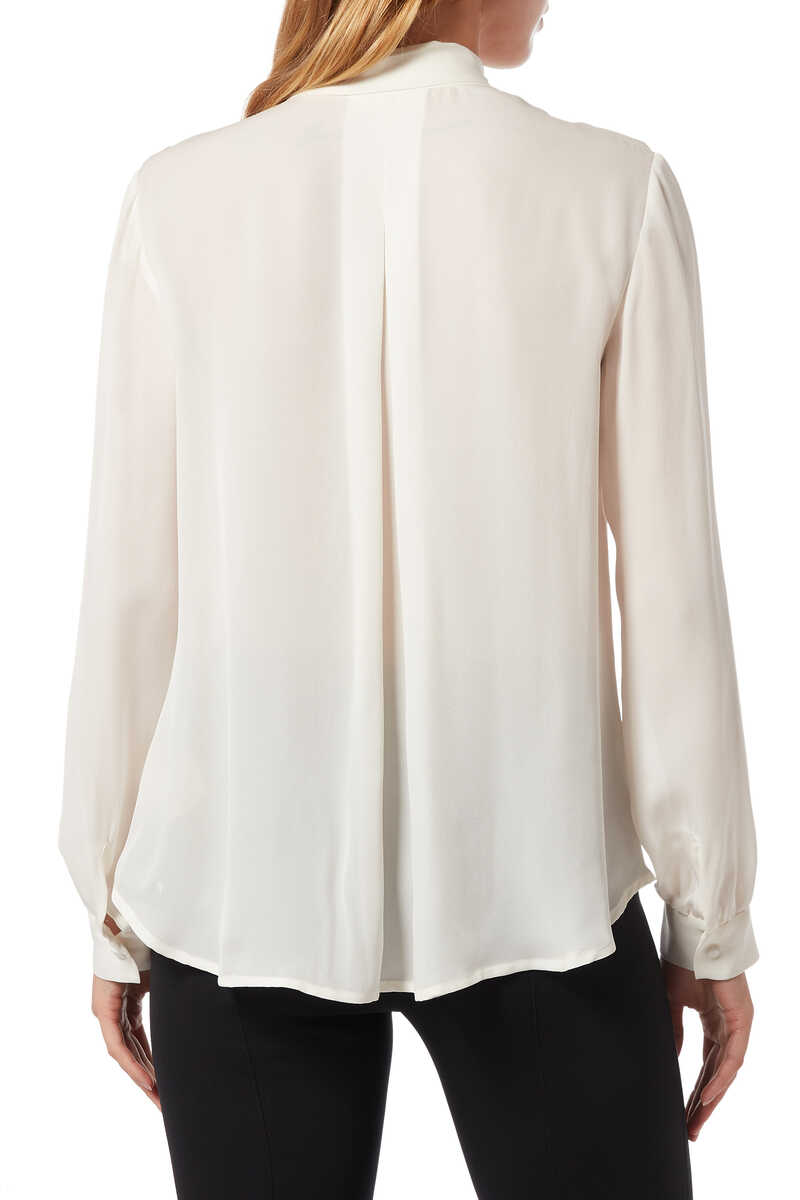 White Giselle Blouse image number 3