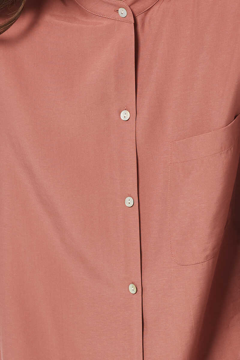 Relaxed Band Collar Shirt image number 4