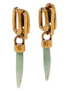 Blake Aventurine And Brass Earrings