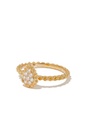 Serpent Boheme Ring in yellow gold Pear small model:Yellow gold:50