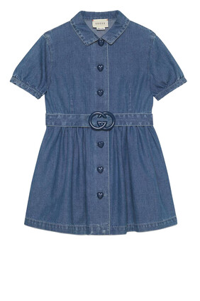 Denim Dress With Interlocking G
