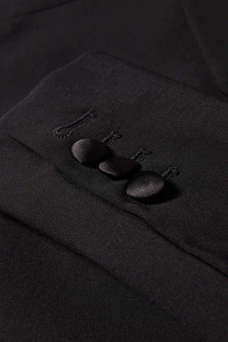 Lapel Collar Blazer Jacket image number 4