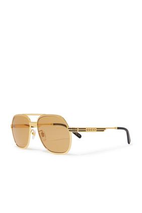 Metallic Gold Sunglasses