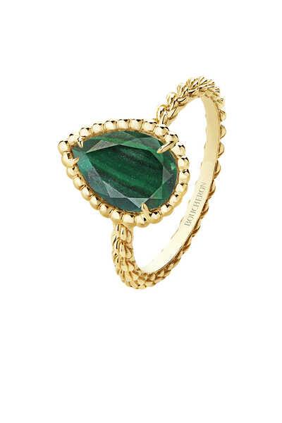 Serpent Bohème Malachite Small Ring