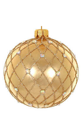 Glitter And Stone Glass Bauble