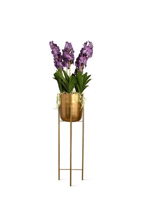 Artificial Vanda Arrangement in Gold Stand