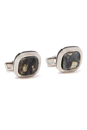 Slate Pyrite Cufflinks