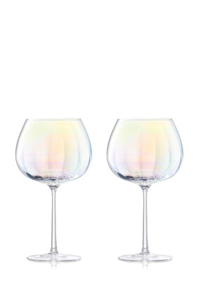 Pearl Balloon Goblet Set of Two
