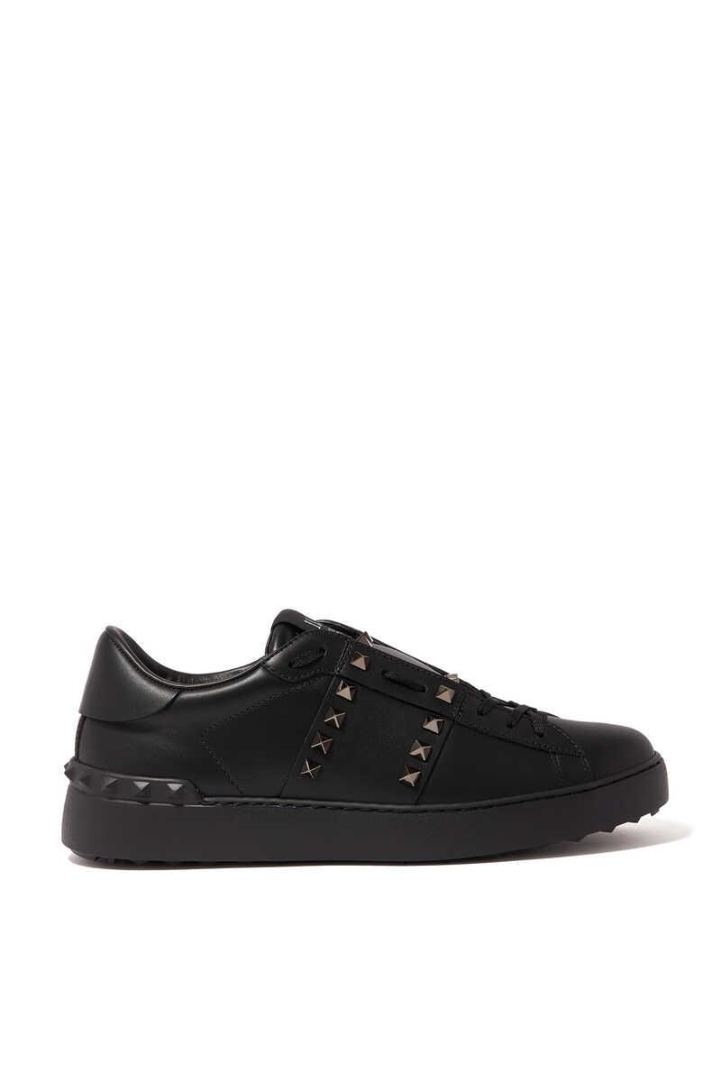 Valentino Garavani Black Rockstud Untitled Sneakers image number 1