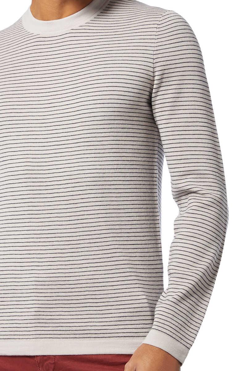 Merino Wool Stripe Sweater image number 4