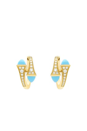 Cleo Turquoise Huggies Earrings