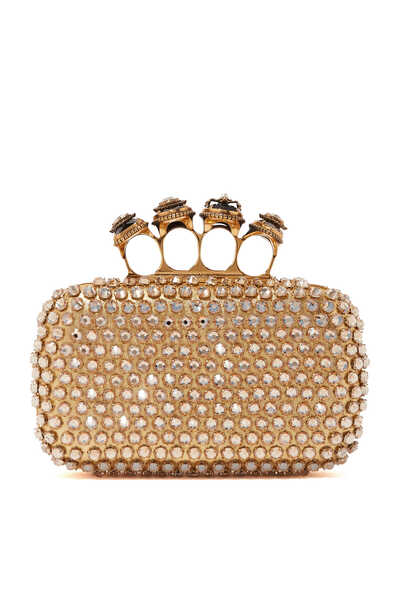Spider Jewelled Four Ring Box Clutch