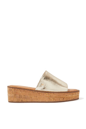 Cork Heel Wedges