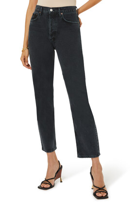 90's Pinch Waist Straight Jeans