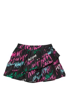 Black Ruffle Skirt