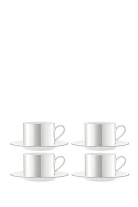 Pearl Tea/Coffee Cup and Saucer
