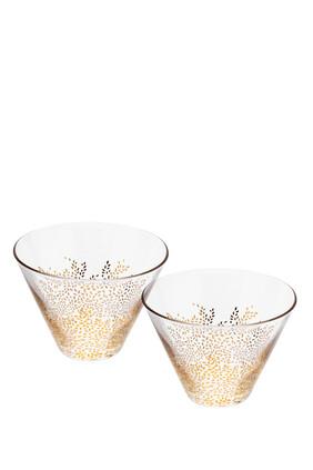 Sara Miller Set of 2 Glass Bowls