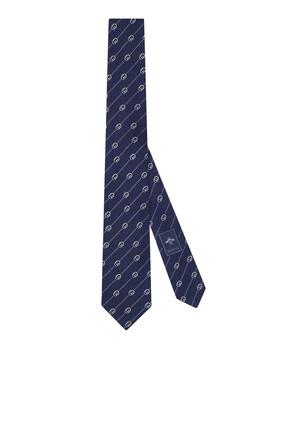 Interlocking G and Dots Silk Tie