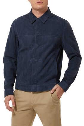 Reece Snap Front Suede Jacket