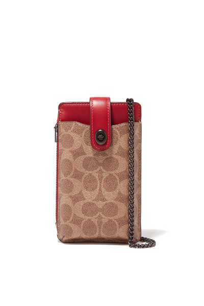 Turnlock Chain Phone Crossbody Bag