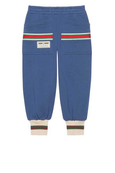 Web Cotton Jogging Pants