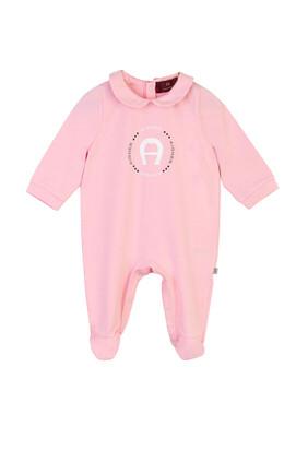 Logo Print Baby Suit