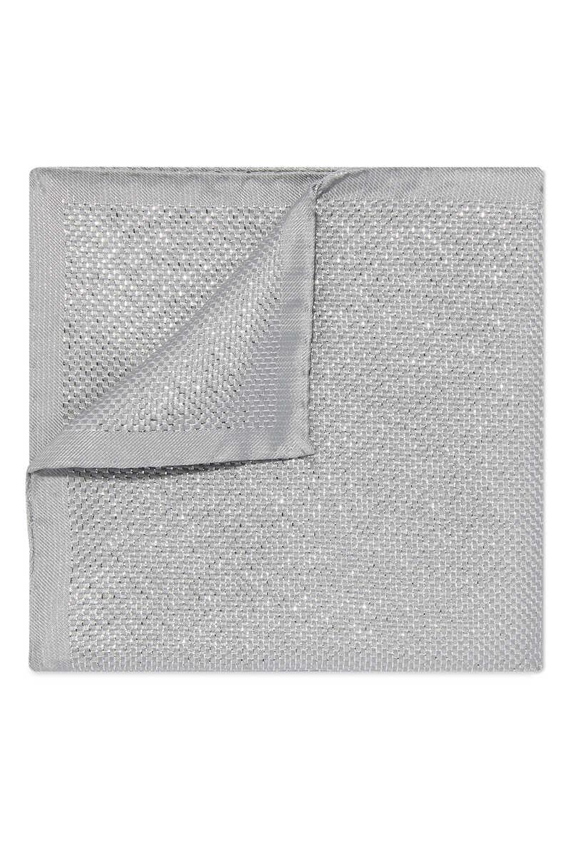 Metallic Silk Pocket Square image number 1